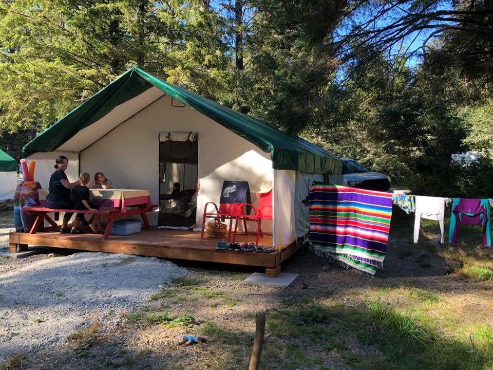 Wall Tents for Rent   Pachena Bay Campground