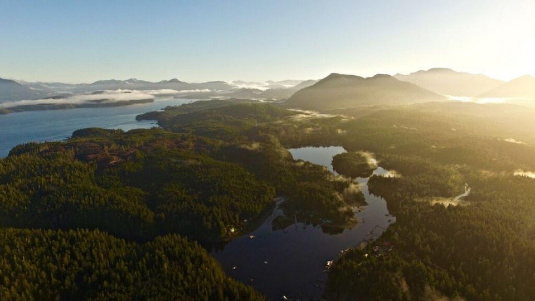 aerial photo of Bamfield, BC