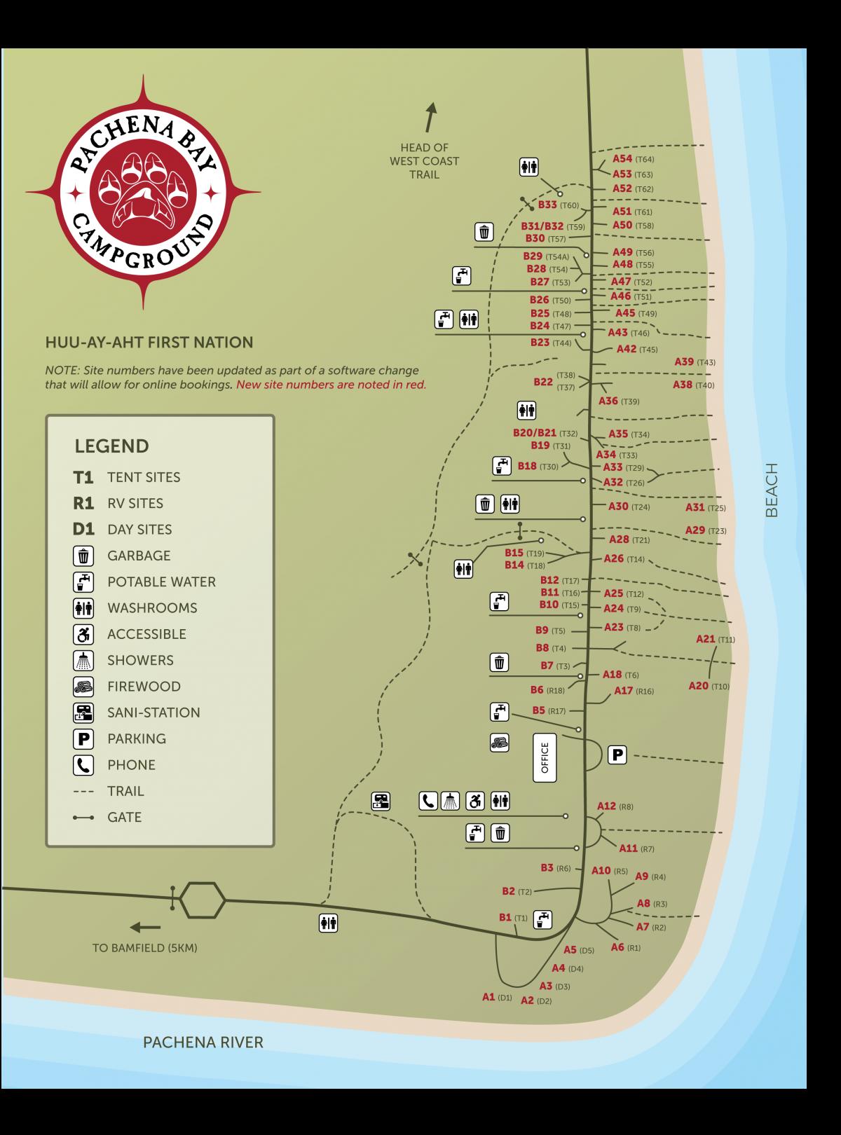 Beachfront RV & Tenting Sites | Pachena Bay Campground | Bamfield, BC