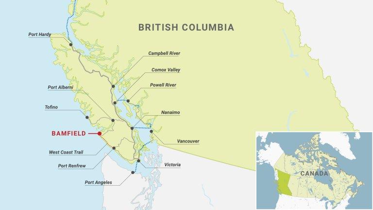 Bamfield Road Vancouver Island